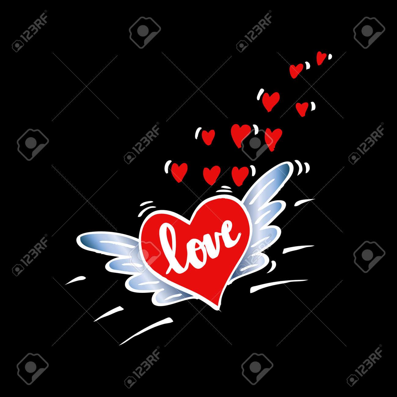 Letras De La Mano Del Amor Romantico Frase Ilustraciones