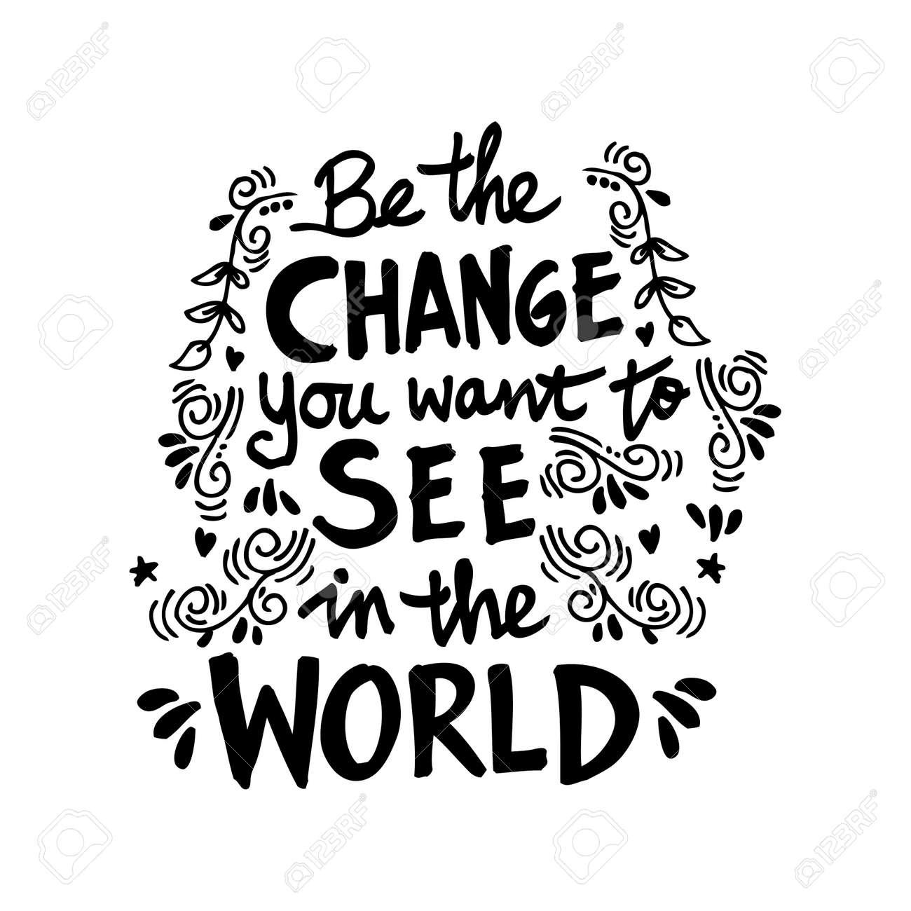 Inspirational Motivating Quotes By Mahatma Gandhi Royalty Free
