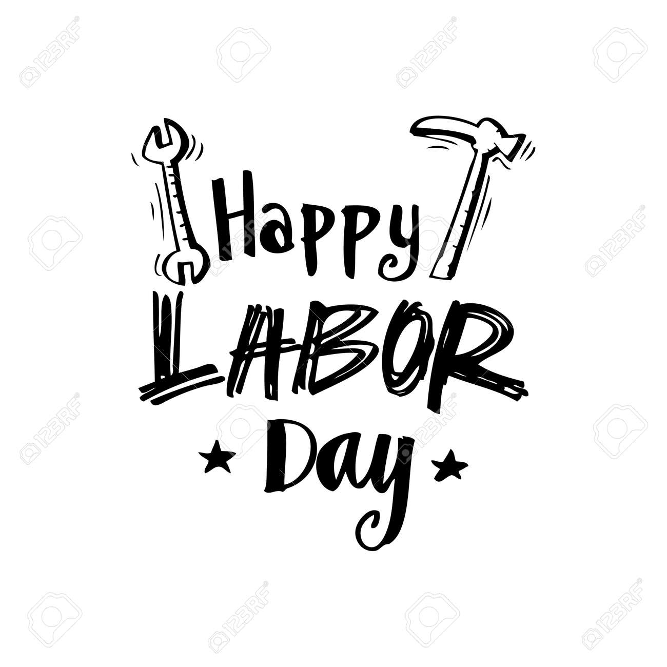 Happy Labor Day Phrase Royalty Free Cliparts Vectors And Stock Illustration Image 75320435