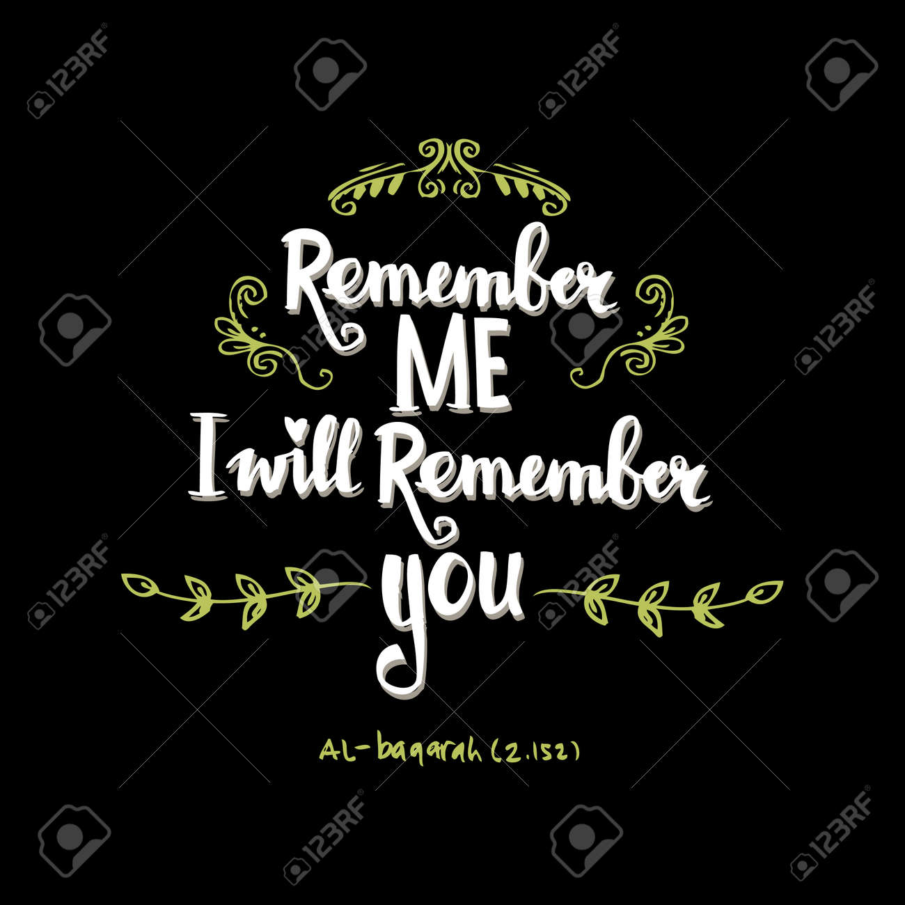 Remember Me I Will Remember You Quote Hand Lettering Calligraphy