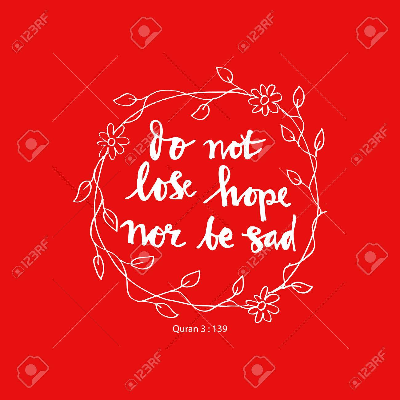 Stock illustration 3d red text quot yes quot stock illustration royalty - To Be Or Not To Be Do Not Lose Hope Nor Be Sad Islamic