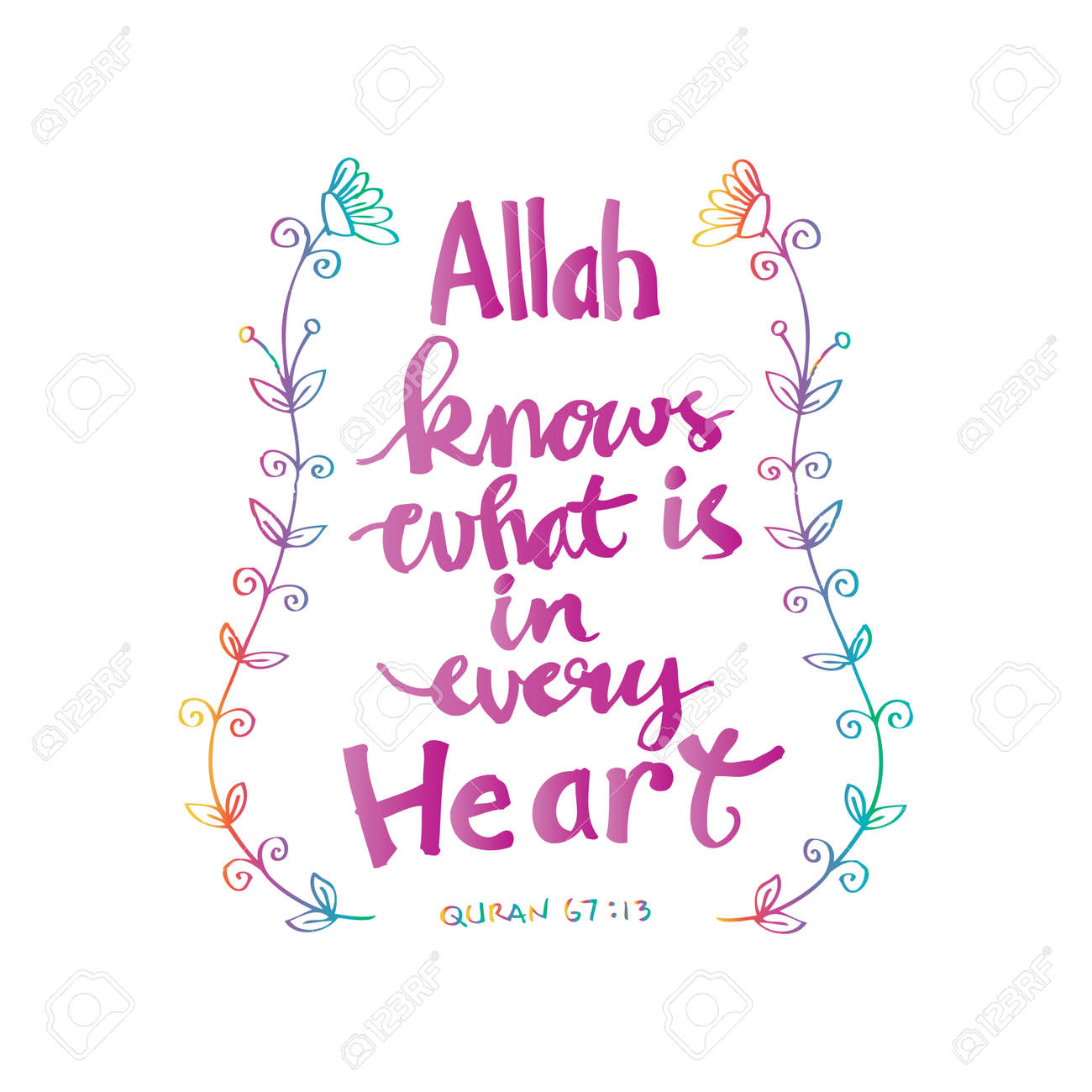 Quotes Quran Allah Knows What Is In Every Heartislamic Quran Quotes Royalty