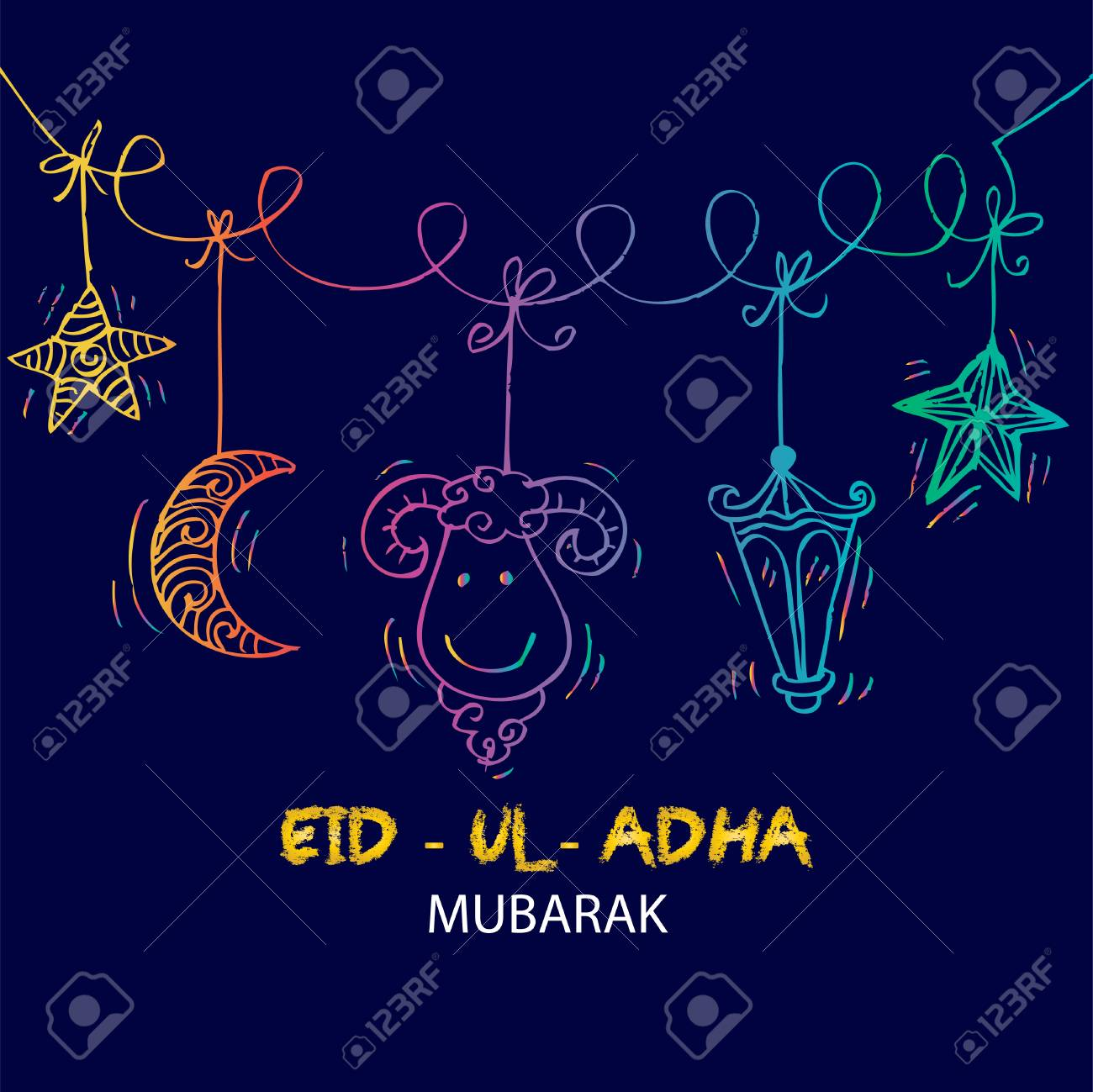 Greeting card design for muslim community festival eid ul adha greeting card design for muslim community festival eid ul adha stock vector 84919414 m4hsunfo