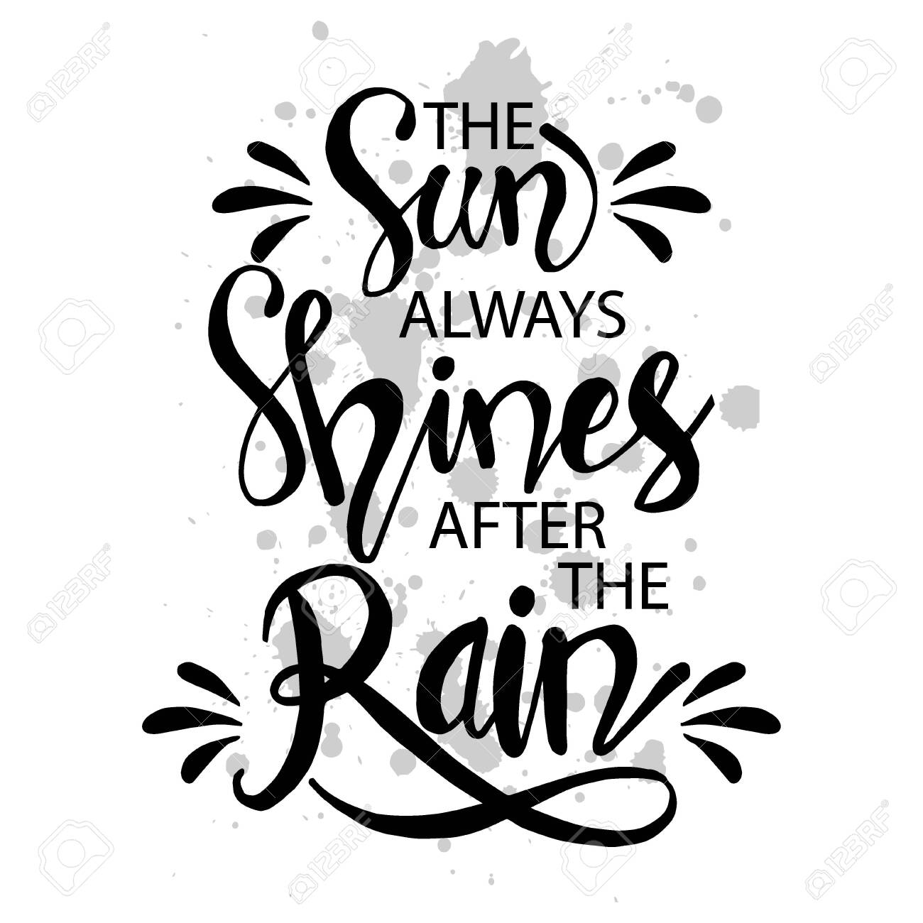 The Sun Always Shines After The Rain Motivational Quote Poster