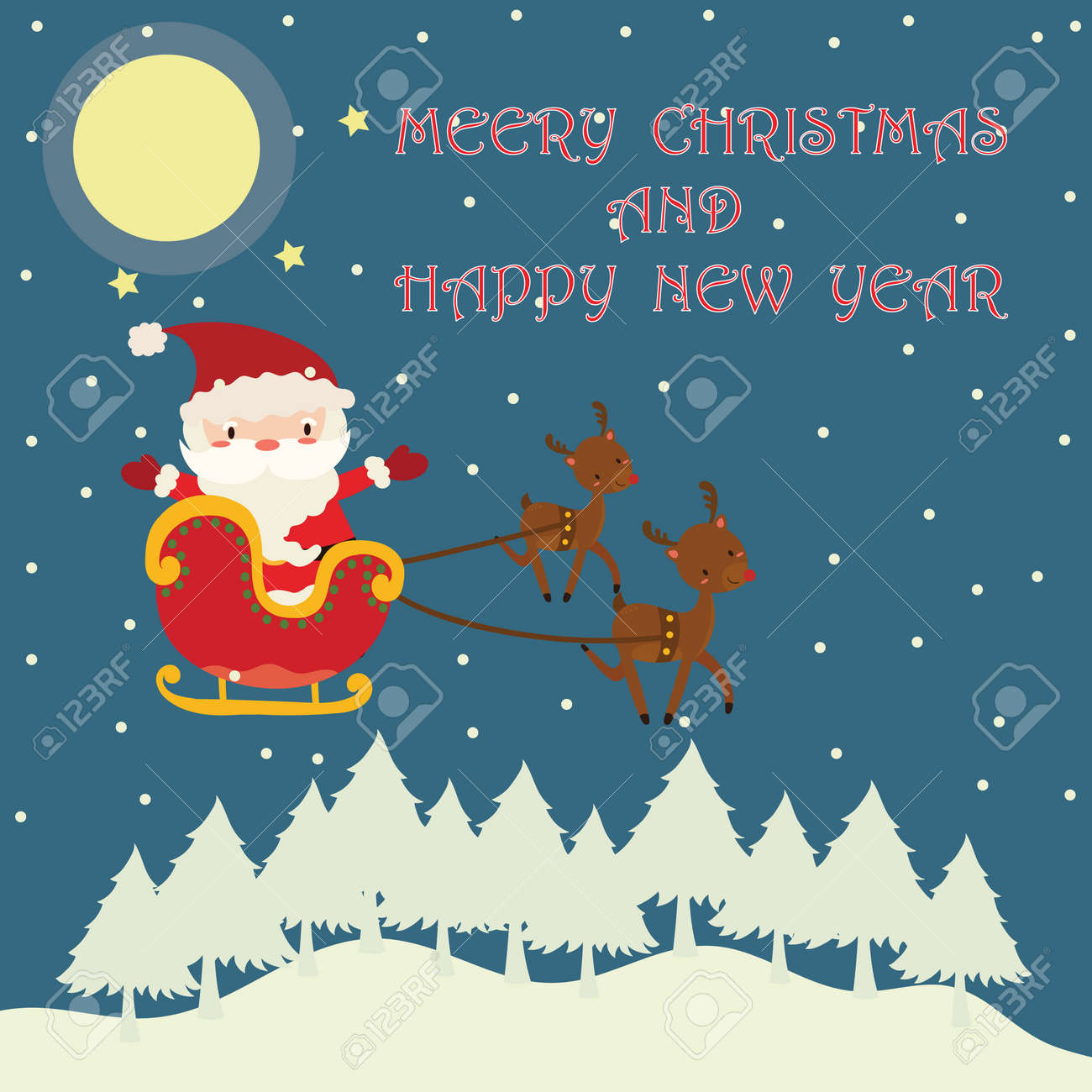 merry christmas and happy new year banner stock vector 91754456