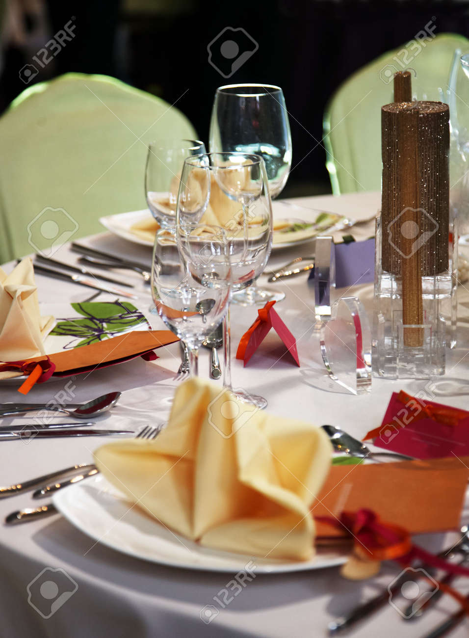 luxury table setting Stock Photo - 5035401