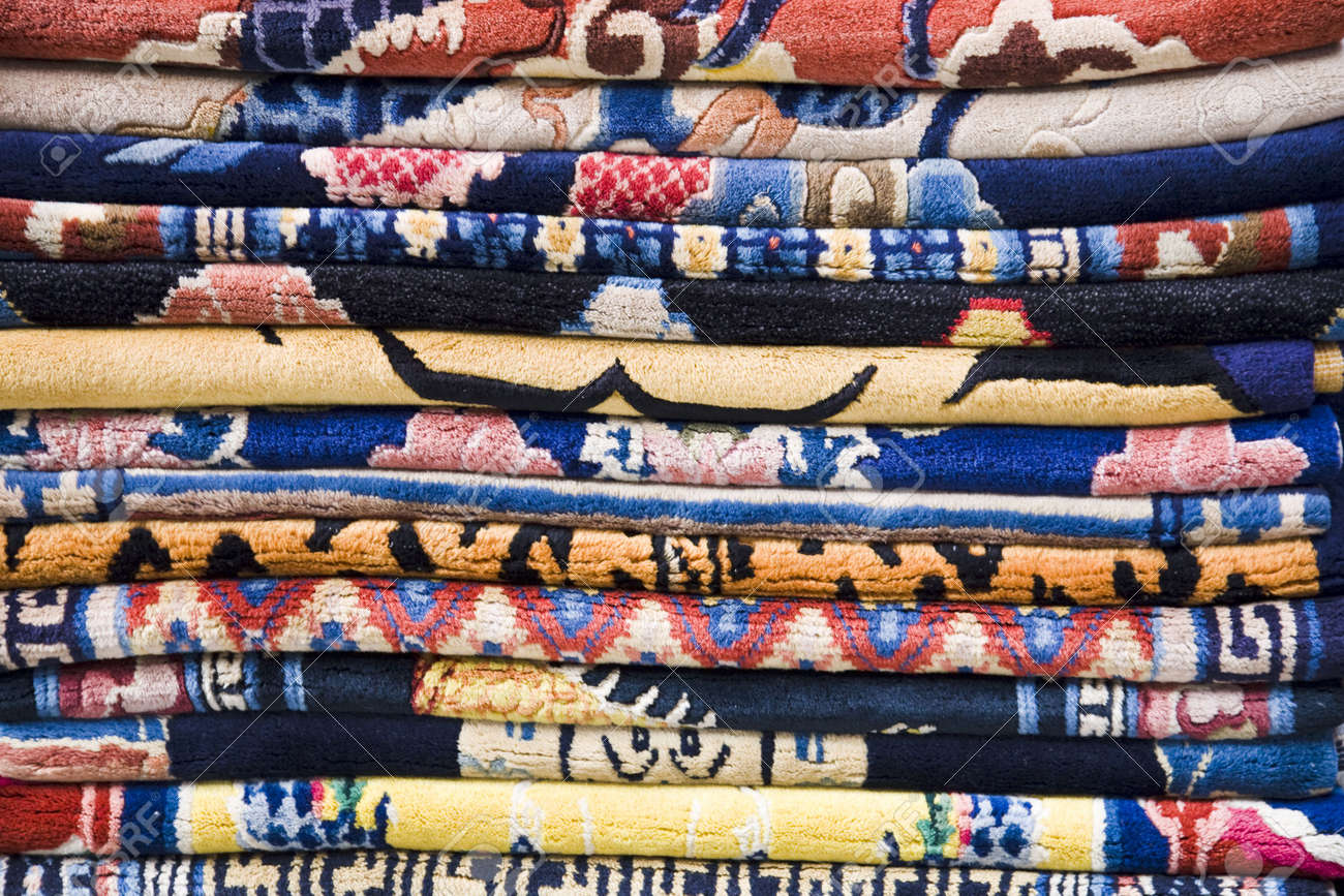 Stack of rugs Stock Photo - 5551426