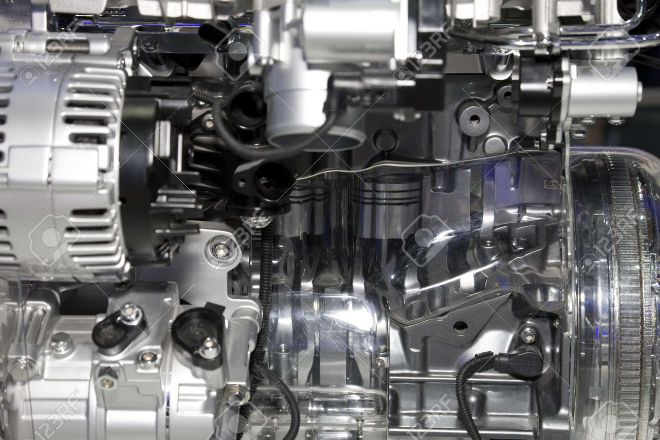 Complex engine of modern car Stock Photo - 7043302