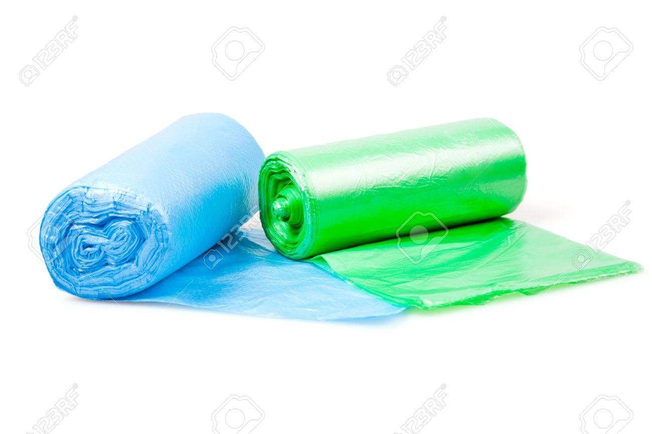 Disposable bags rolls Stock Photo - 8229027