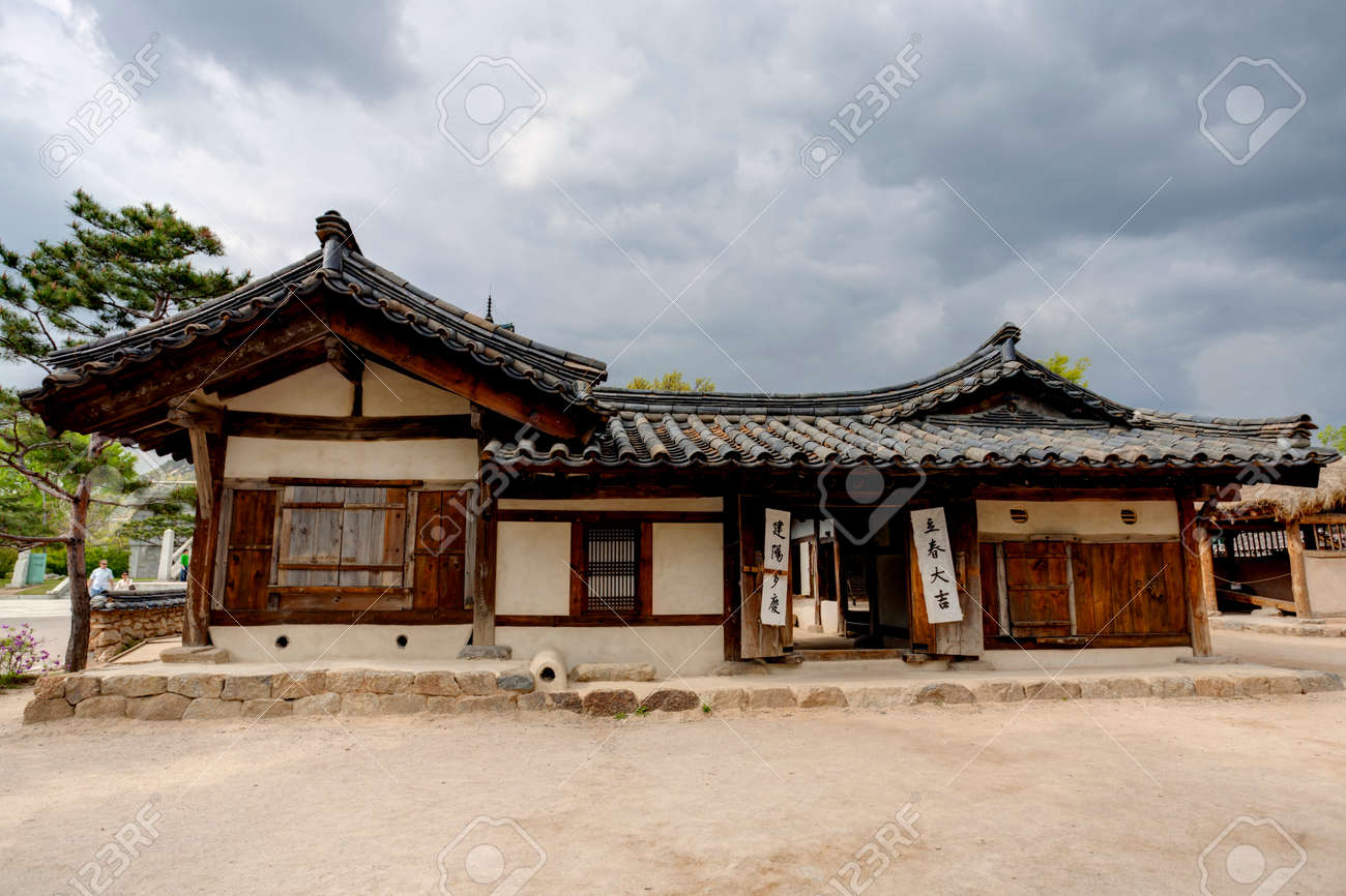Stock Photo   Traditional Korean House, South Korea