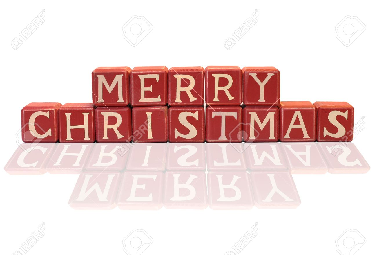 Merry Christmas Blocks Stock Photo, Picture And Royalty Free Image ...