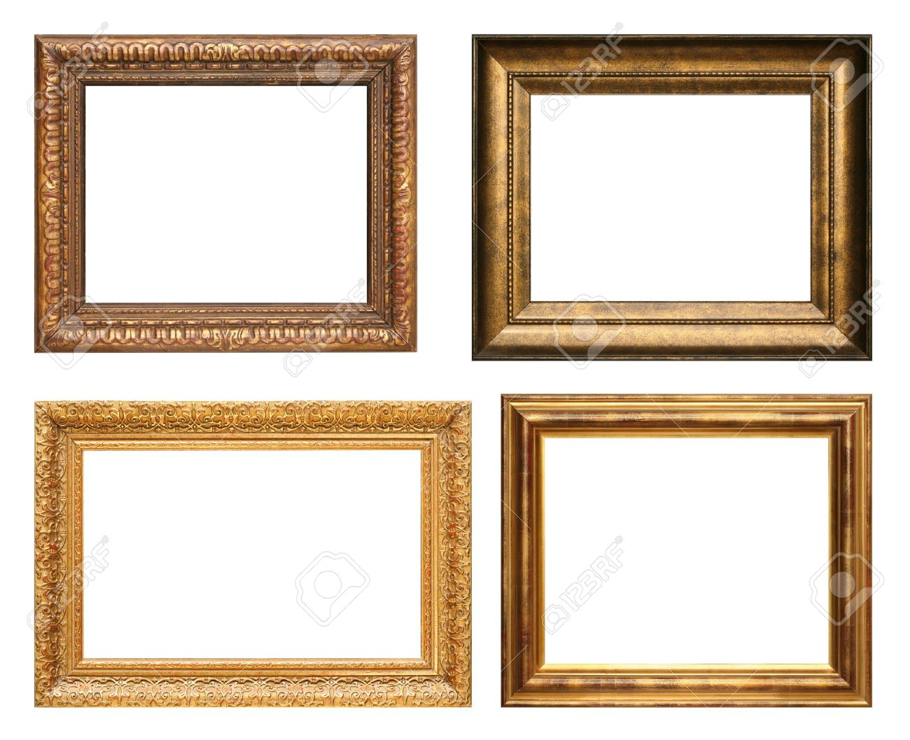 Antique Picture Frames. High Resolution. Stock Photo, Picture And ...