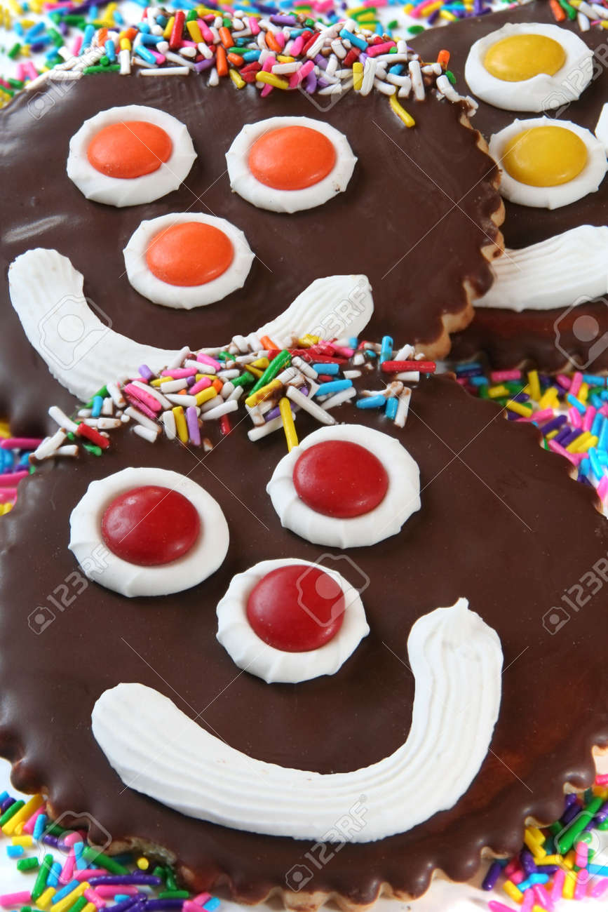 Happy face cookies Stock Photo - 3199345