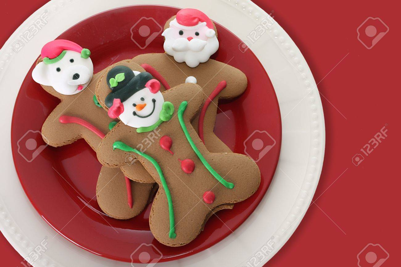Christmas gingerbread men cookies. Stock Photo - 3824463