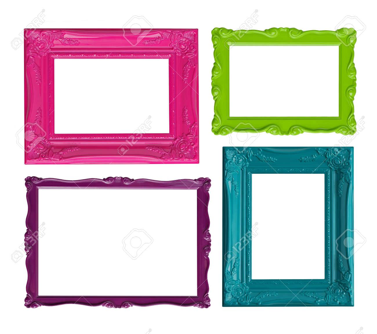 Cuatro Marcos Contemporáneos De Alta Resolución En Colores Vibrantes ...