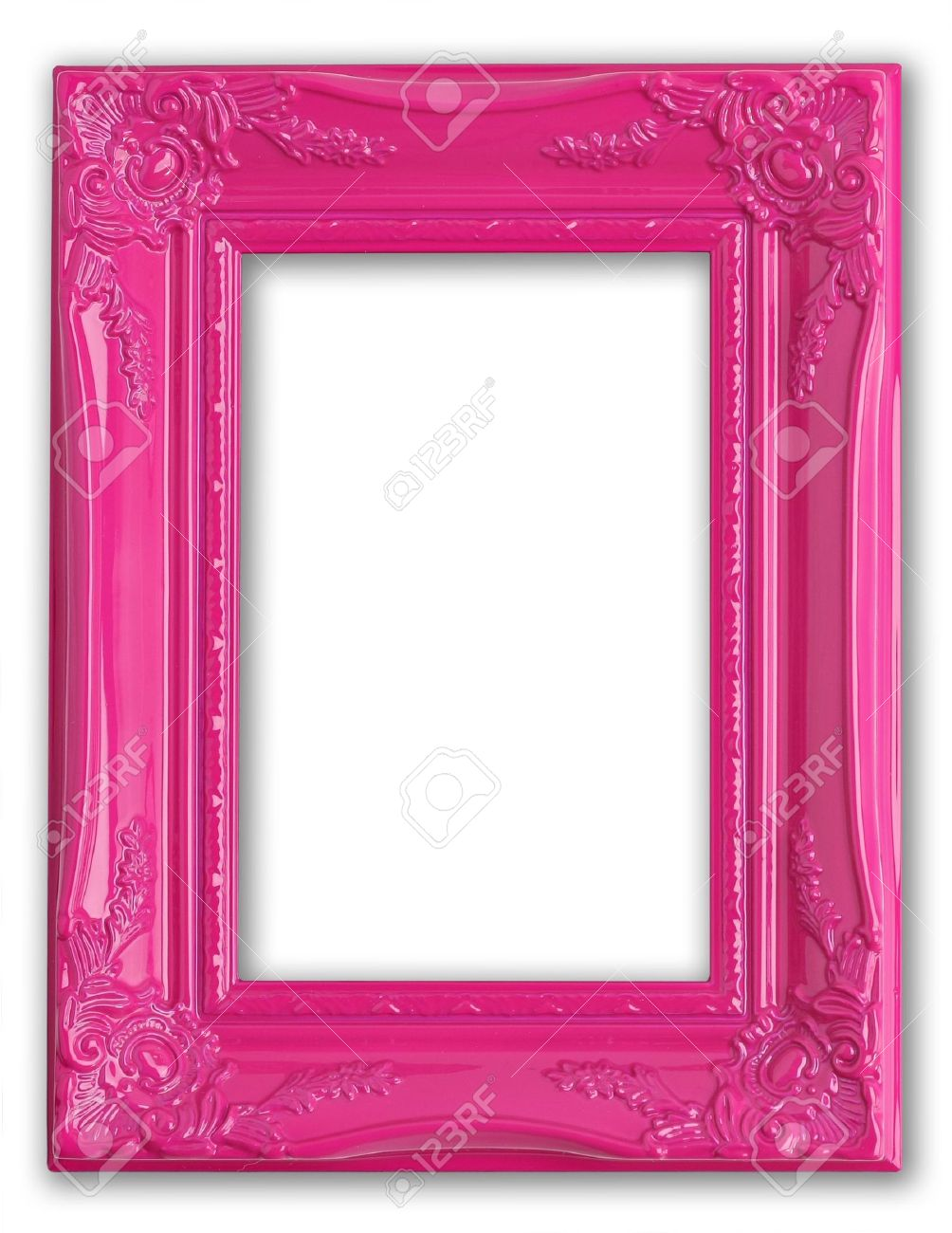 pretty pink picture frame stock photo 4870554
