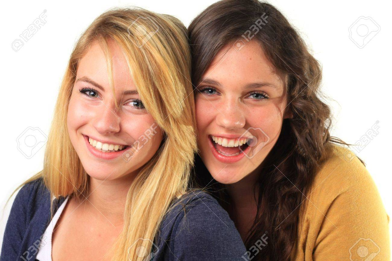 Beautiful teenage girls, best friends, laughing together. Stock Photo - 5568037