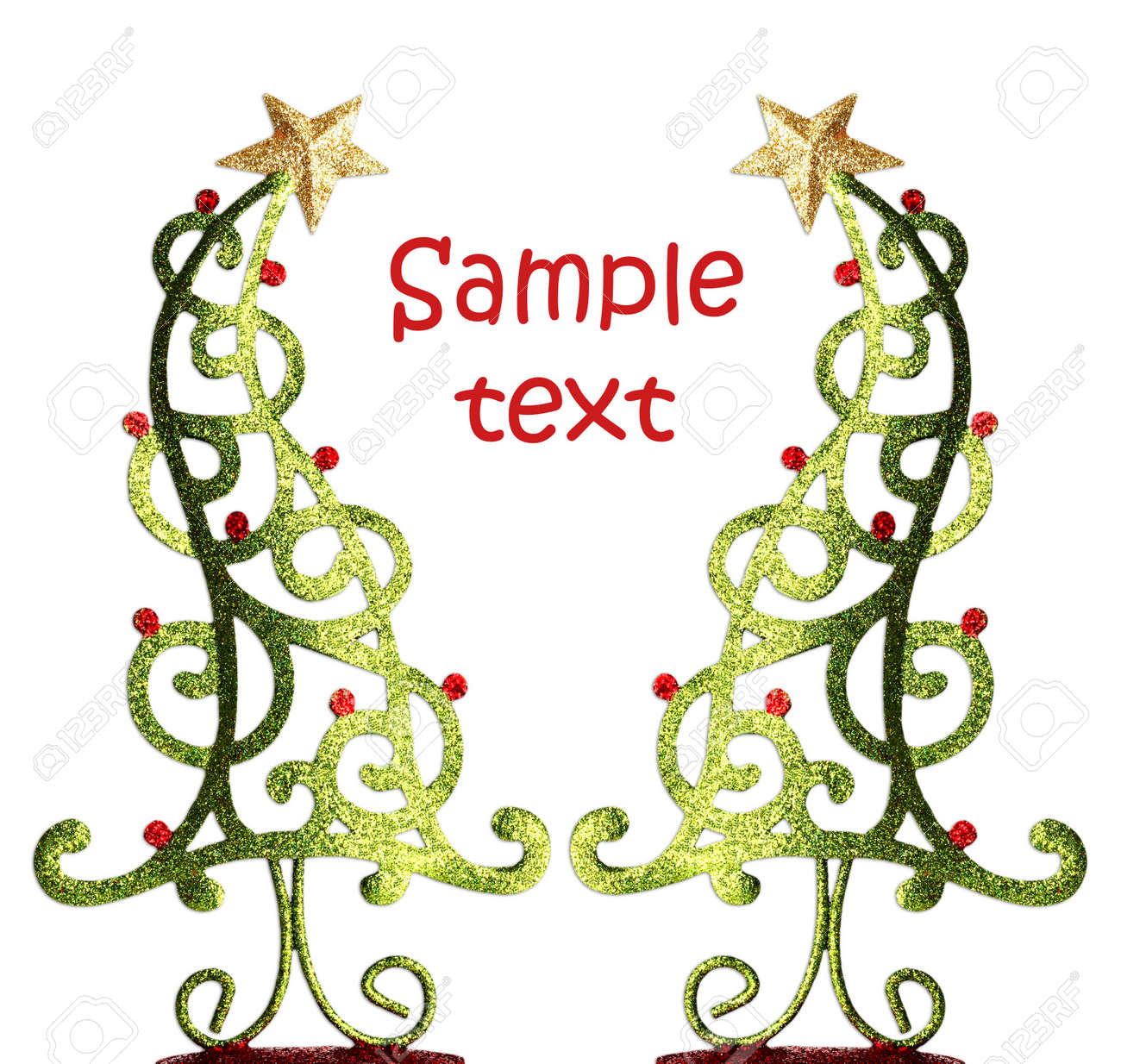 Contemporary Christmas Tree Ornaments. Stock Photo, Picture And ...