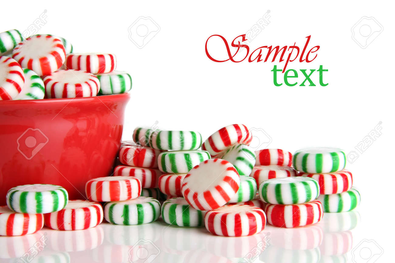 Old Fashioned Peppermint Christmas Candy. Stock Photo, Picture And ...