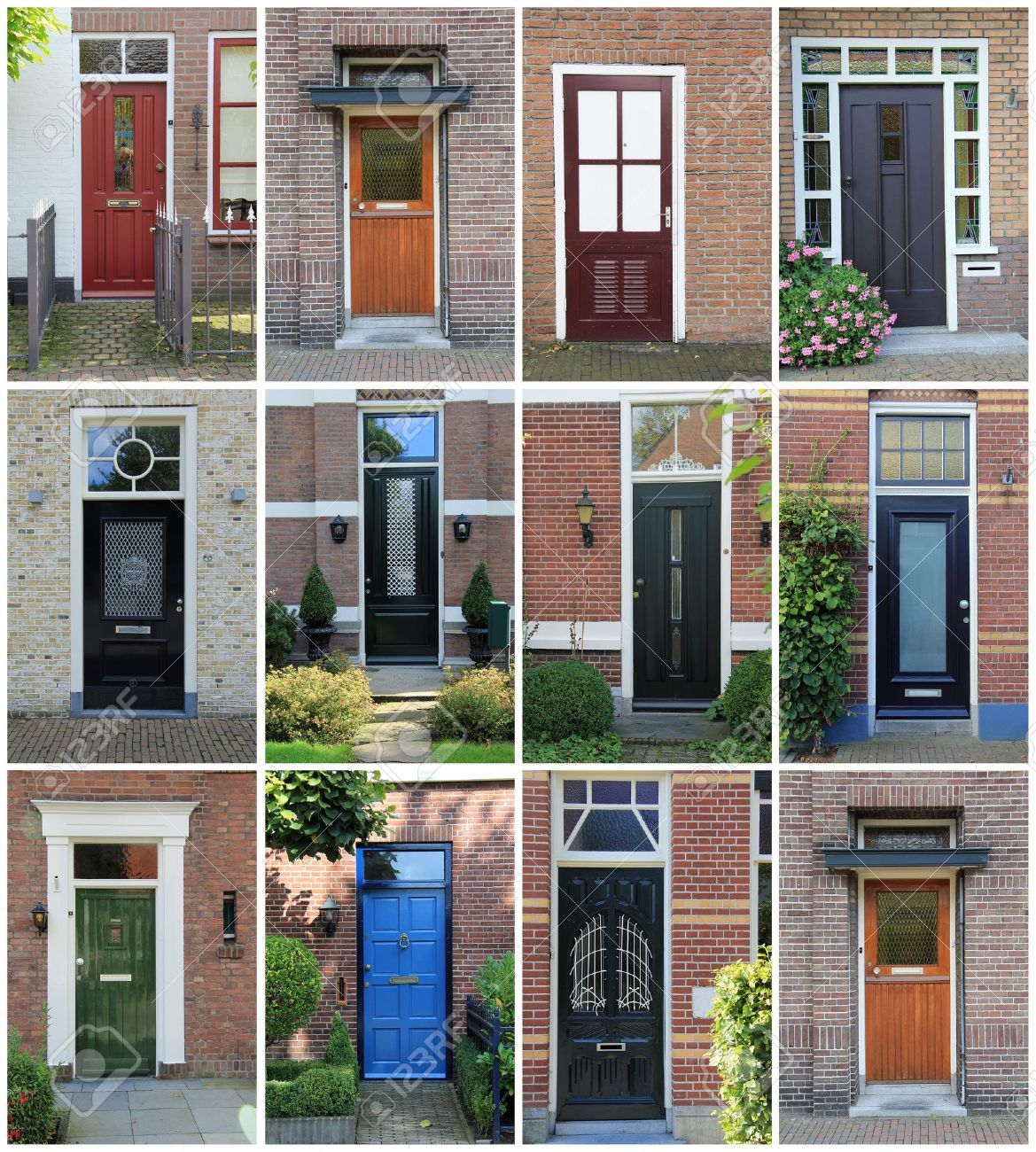 Collage Of Dutch Front Doors Stock Photo Picture And Royalty Free