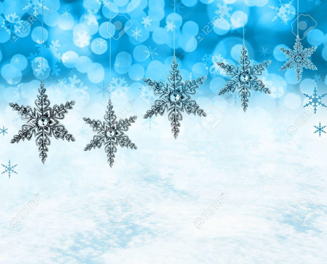 Festliche Weihnachten Schneeflocken Hintergrund, Enthält Echten ...