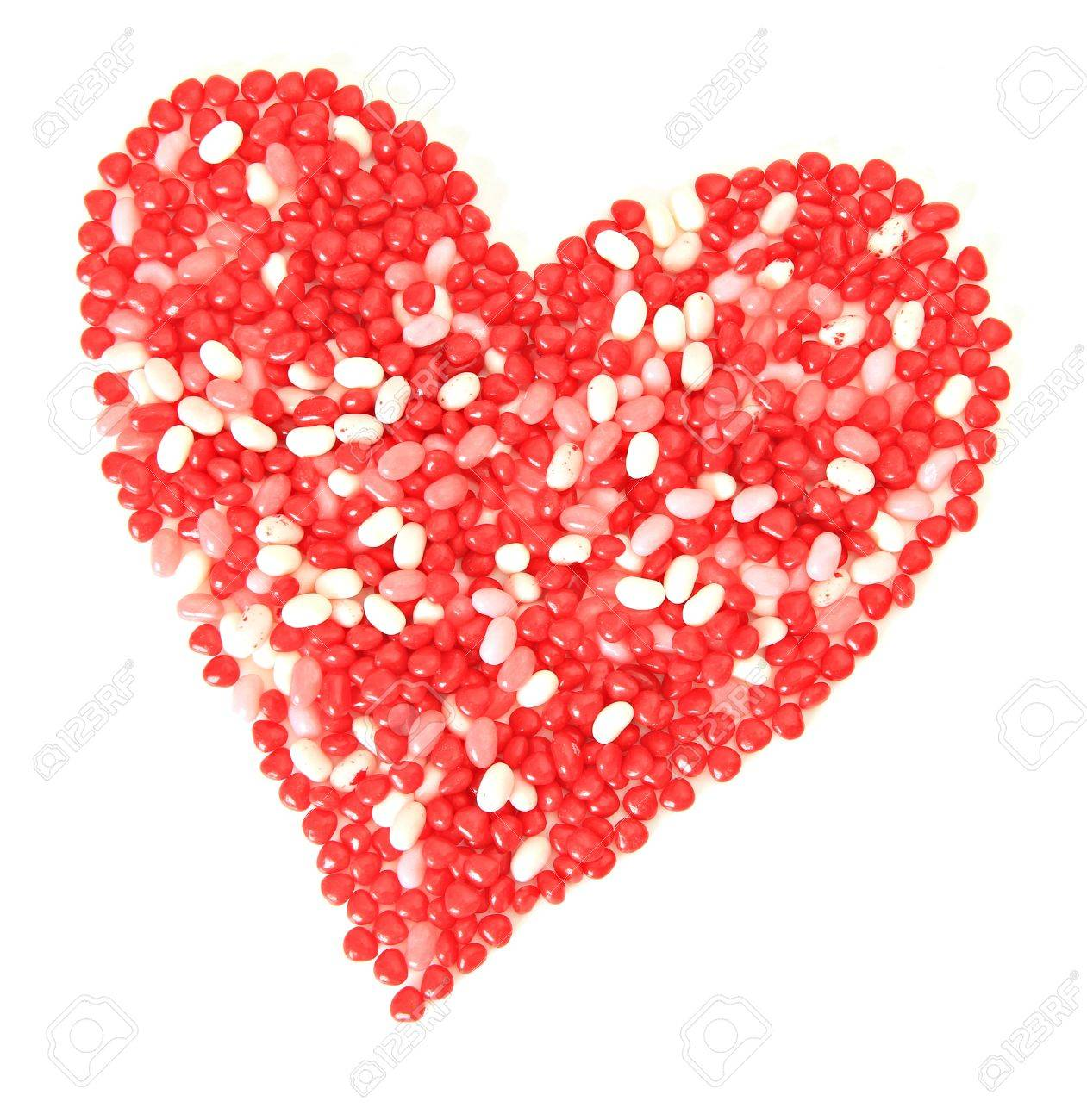 Isolated Valentine heart made of candy. Stock Photo - 11872757