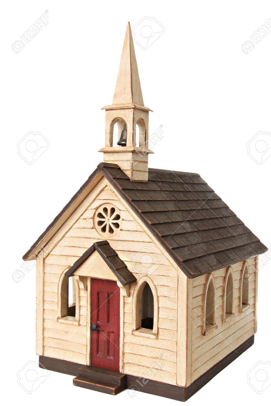 Model chapel, isolated on white Stock Photo - 15422512