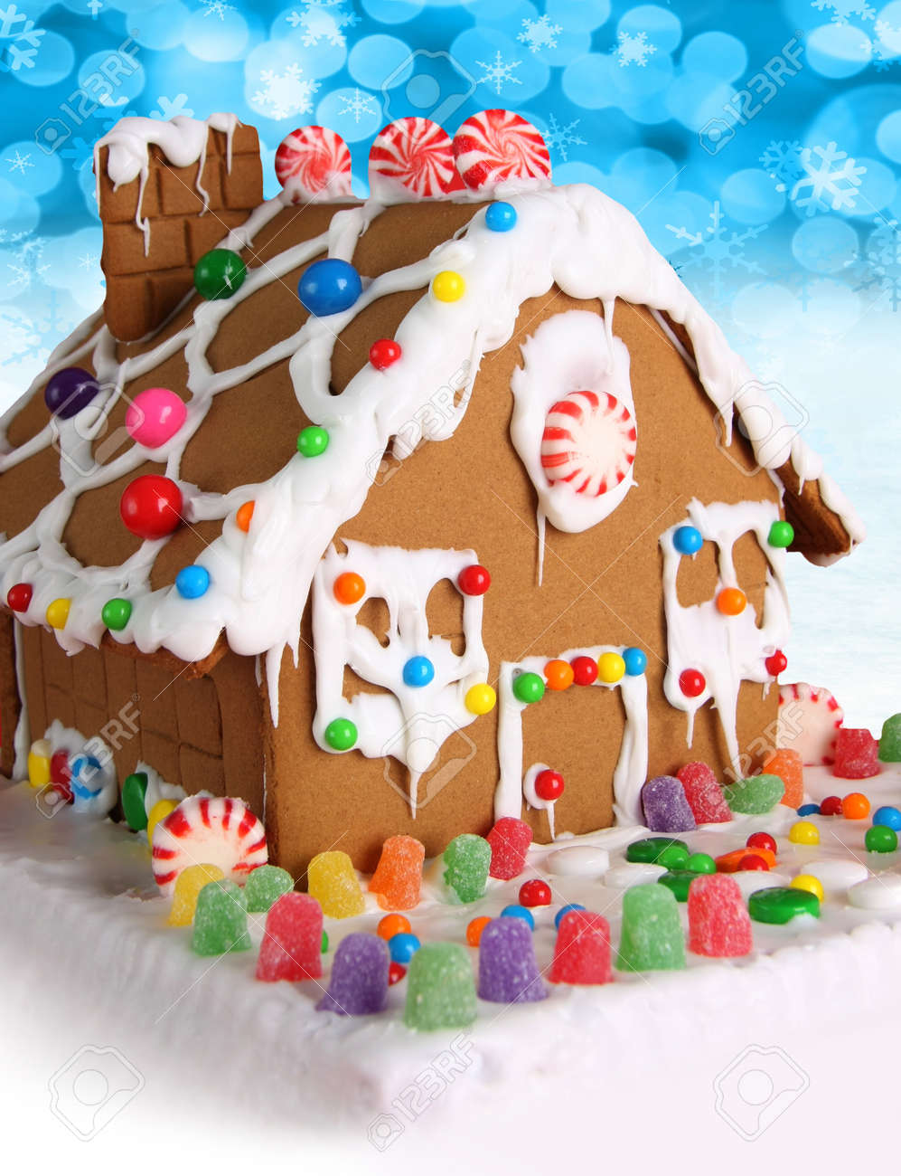 Christmas Gingerbread House.Christmas Gingerbread House With Candy