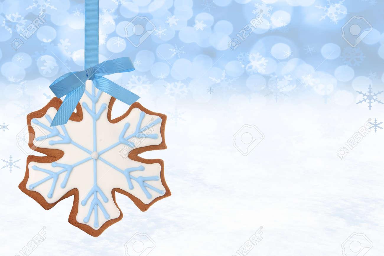 Christmas snowflake gingerbread cookie Stock Photo - 16587308