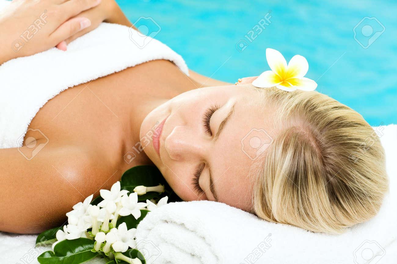 Beautiful young woman in spa Stock Photo - 5655160