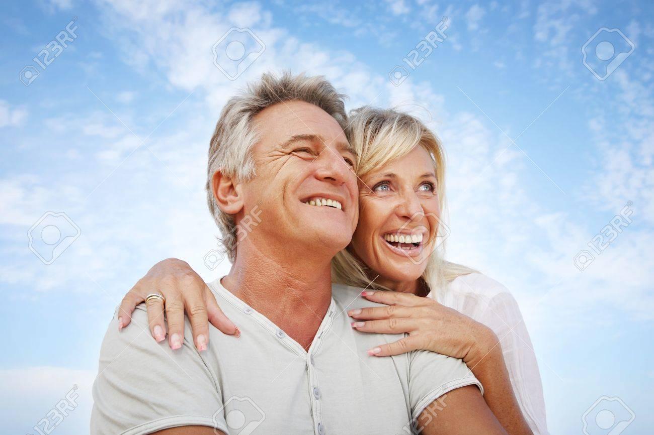 Happy mature couple outdoors Stock Photo - 8667379