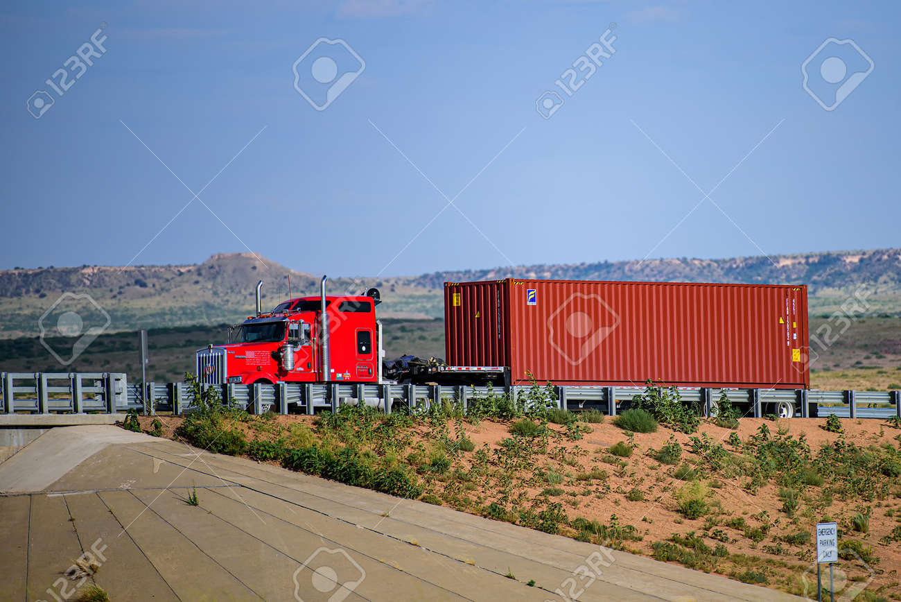 Arizona, USA - 2020: Roads in the United States, delivery of goods. Transport business. - 170440904