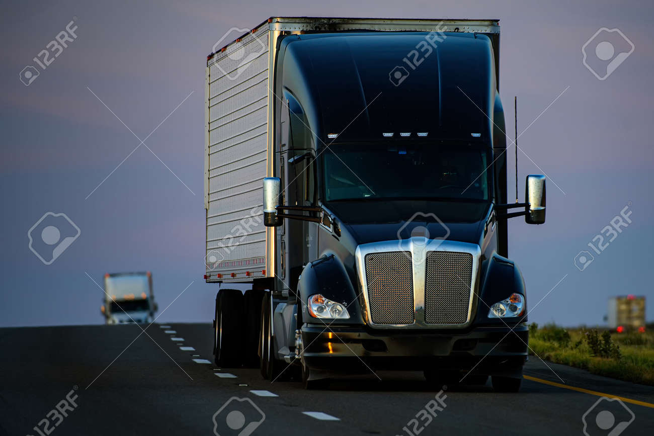 Arizona, USA - 2020: American trucks. Roads in the United States, delivery of goods. Transport business. - 170440906