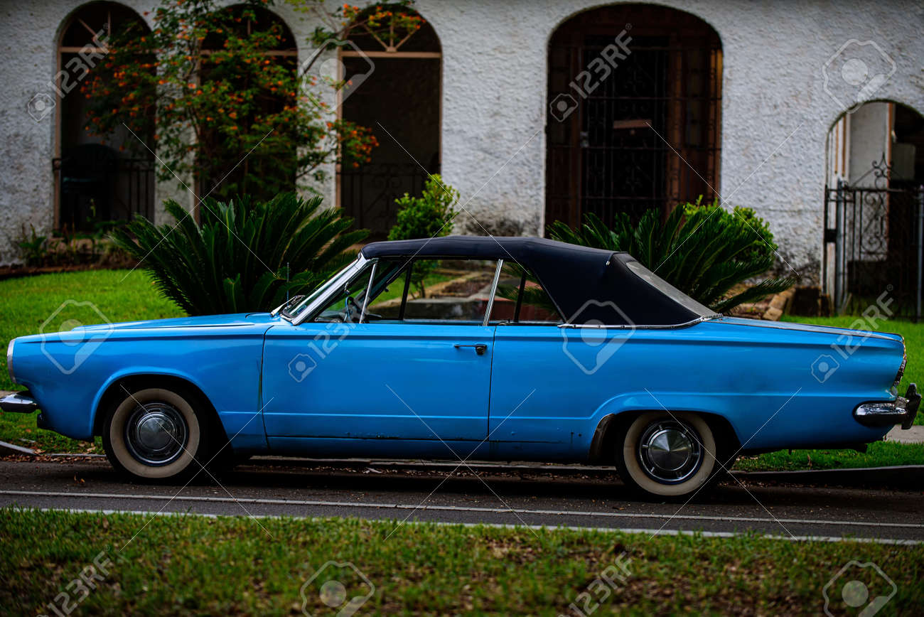 Arizona, USA - 2020: American old car style. Retro transpost. - 170440913