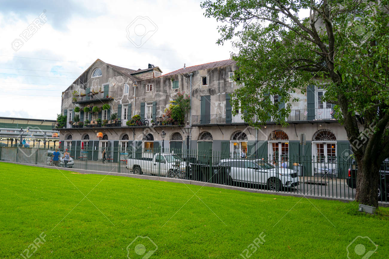 New Orleans, Louisiana, USA - JUNE, 2020: Historic building in the city New Orleans. French Quarter. - 173380645