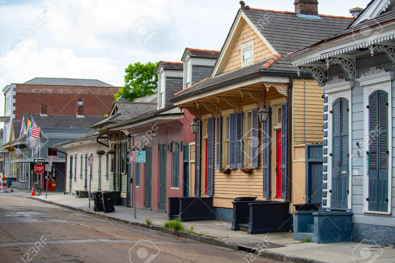 New Orleans, Louisiana, USA - JUNE, 2020: Historic building in the city New Orleans. French Quarter. - 170926442
