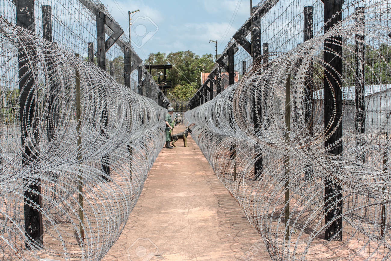 Barbed Wire Fence Prison