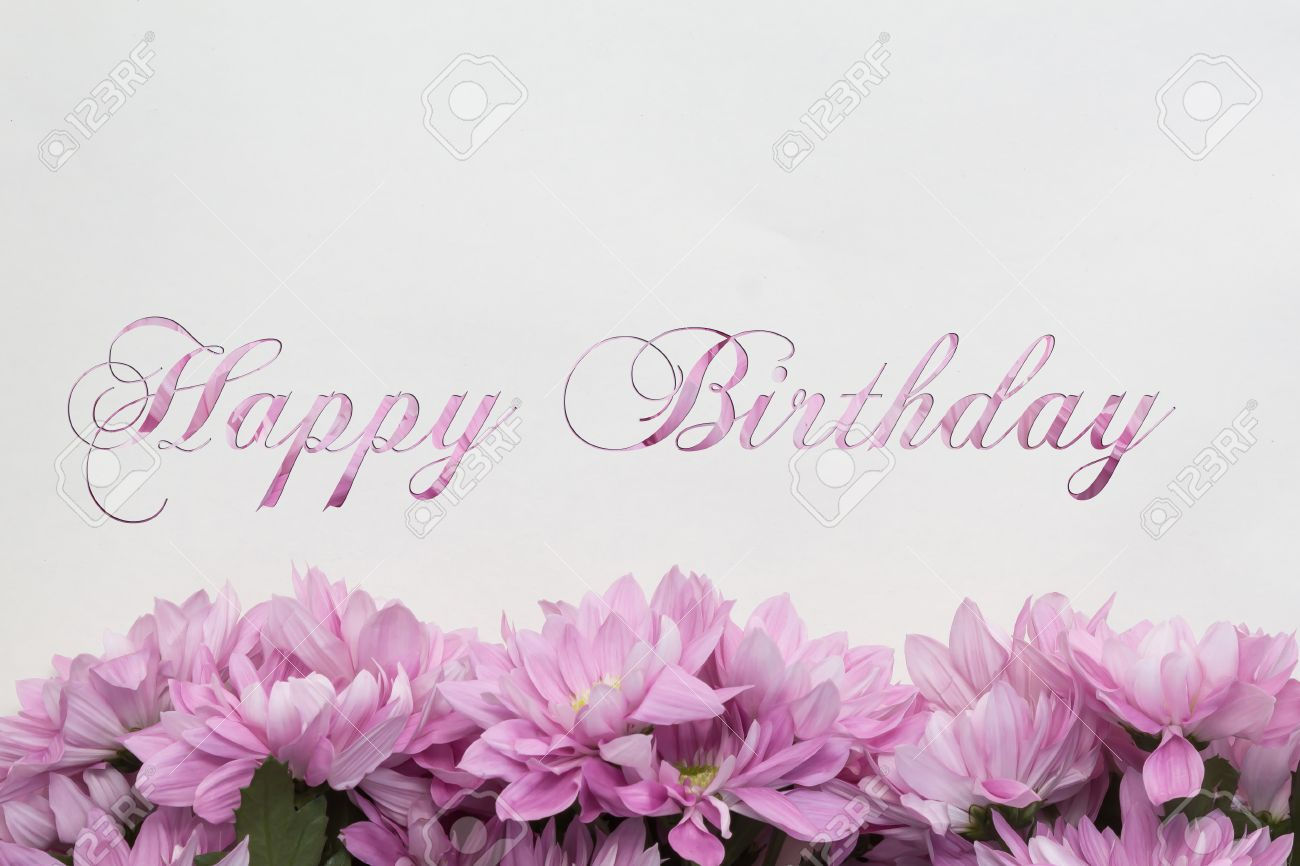 Happy birthday flowers on white background stock photo picture and happy birthday flowers on white background stock photo 41367636 izmirmasajfo Image collections