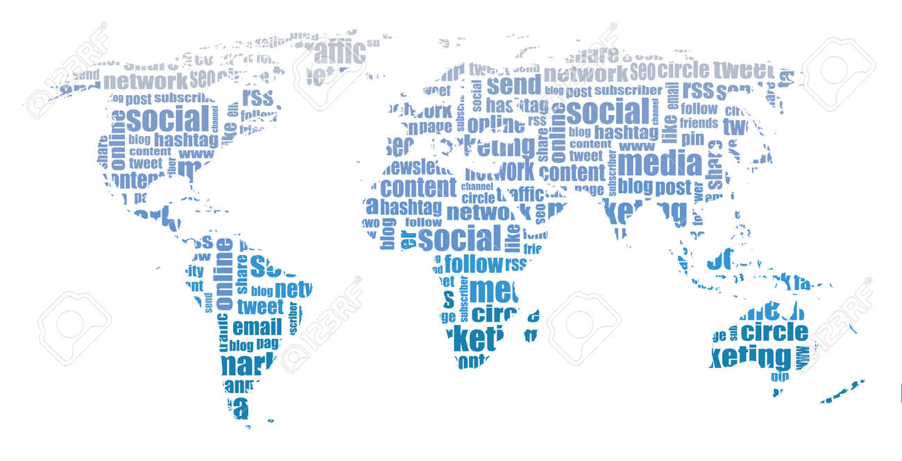 Social media graphic world map illustration royalty free cliparts social media graphic world map illustration stock vector 45968338 gumiabroncs Image collections