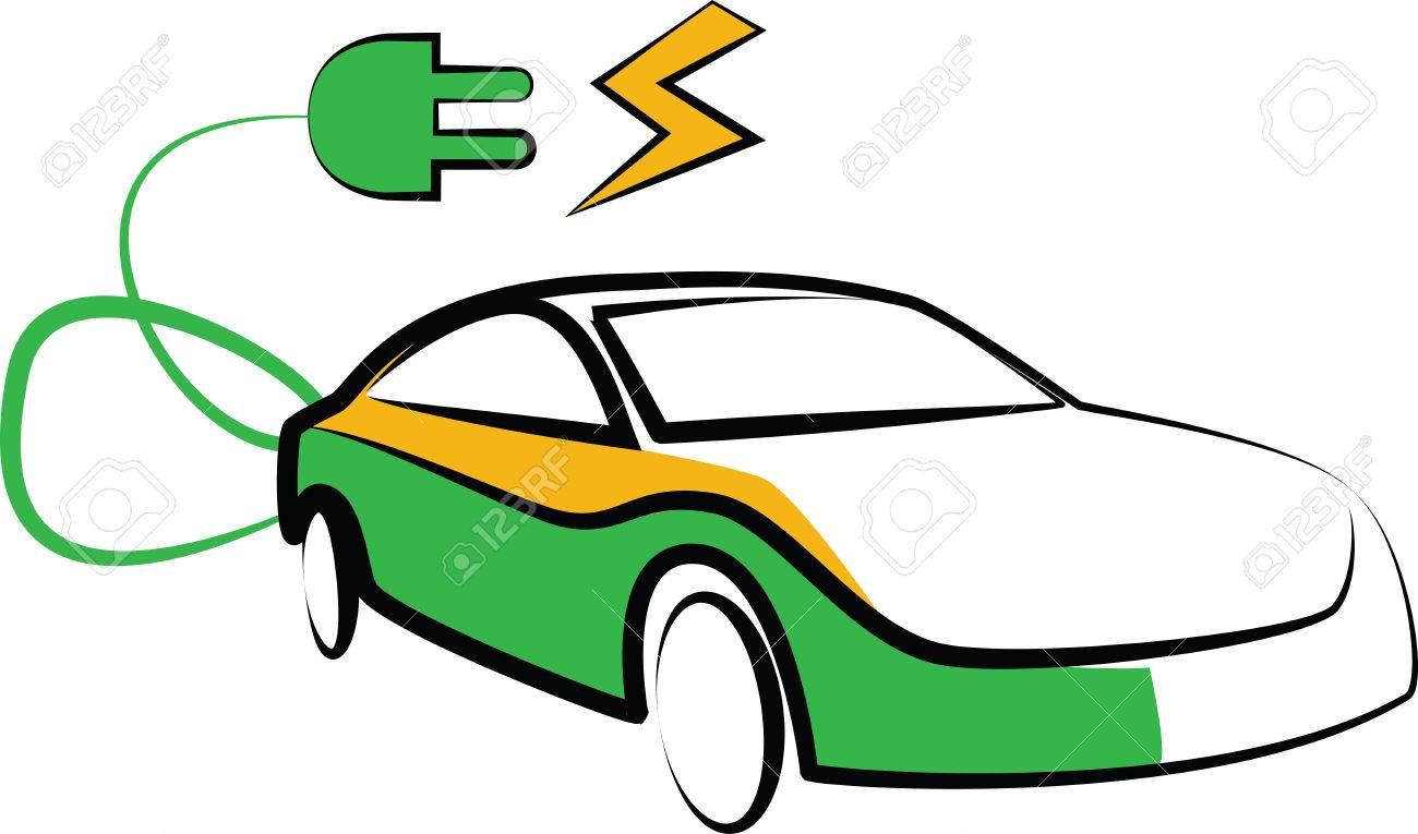 modern electric car silhouette electric car vector illustration rh 123rf com car vector clipart car vector clipart