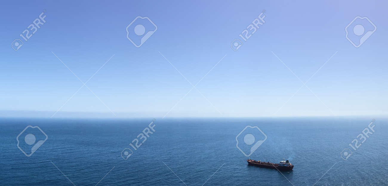 Single ship on ocean panoramic background stock photo picture and single ship on ocean panoramic background stock photo 48354340 voltagebd Images