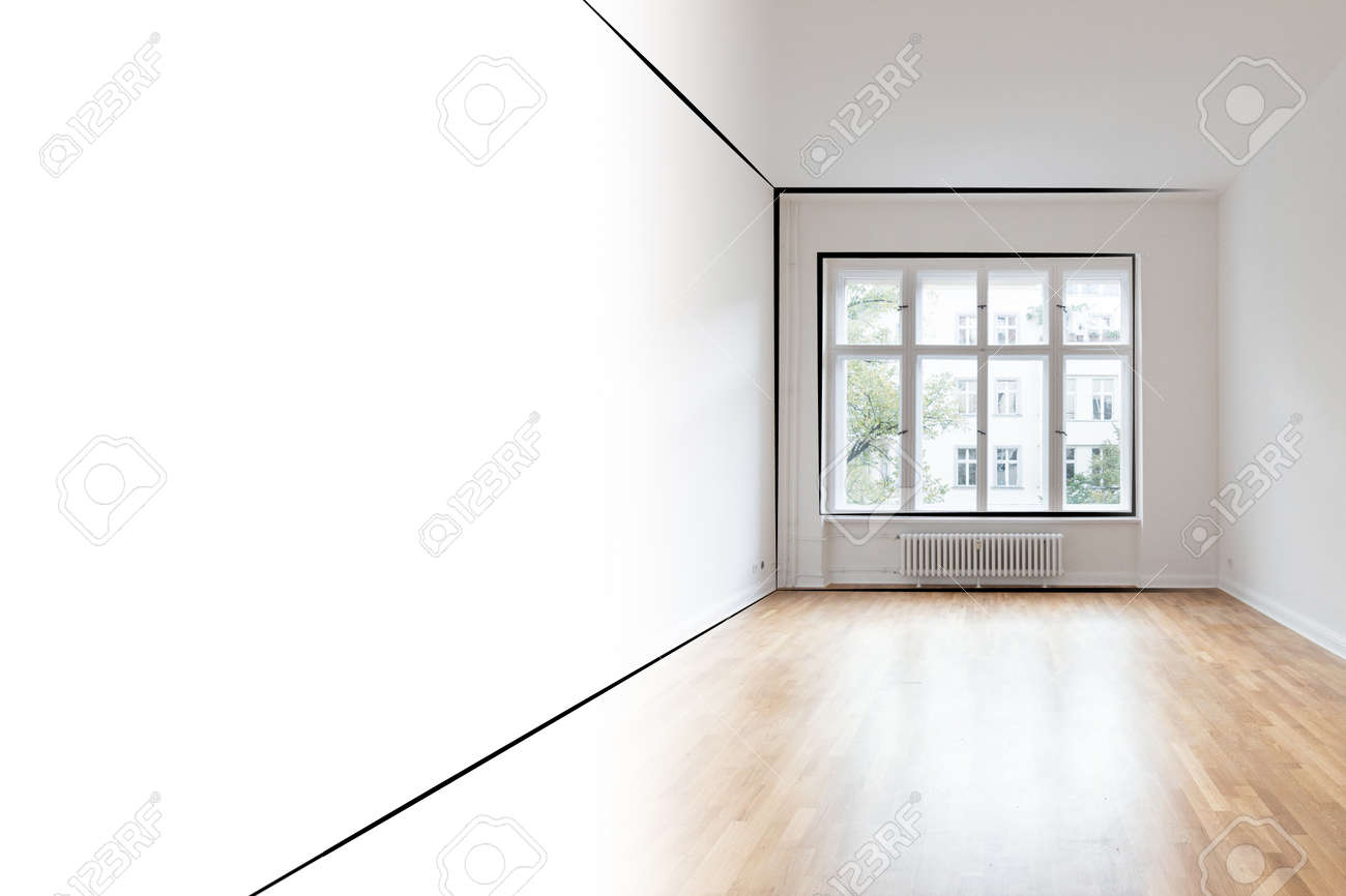 Empty Room Interior Design Concept