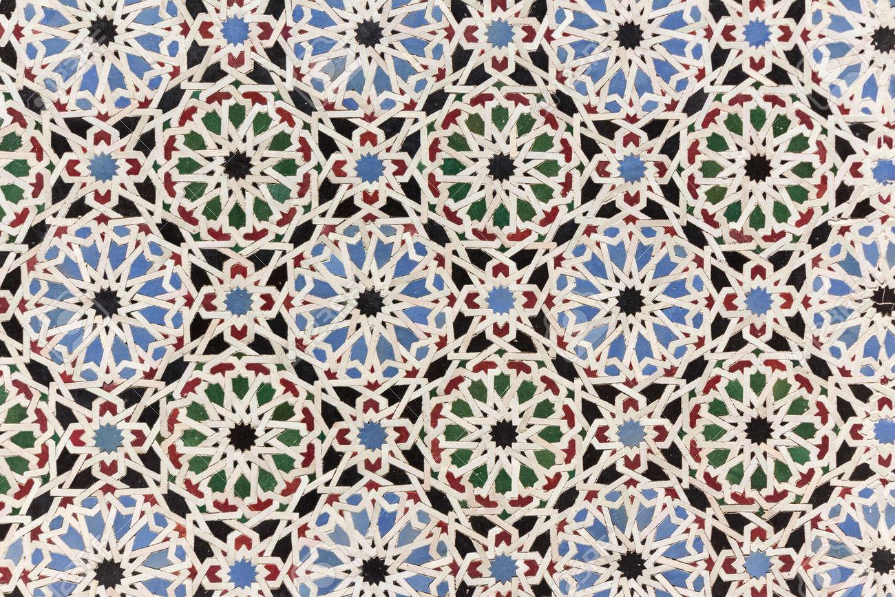Oosterse mozaïek decoratie marokko wandtegels royalty vrije foto