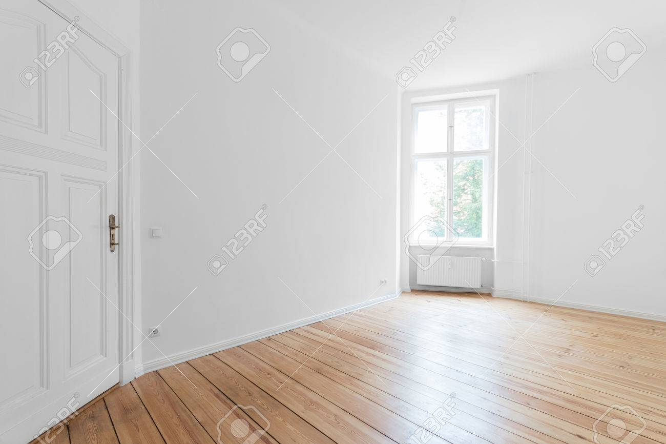 empty apartment room with wooden floor stock photo picture and