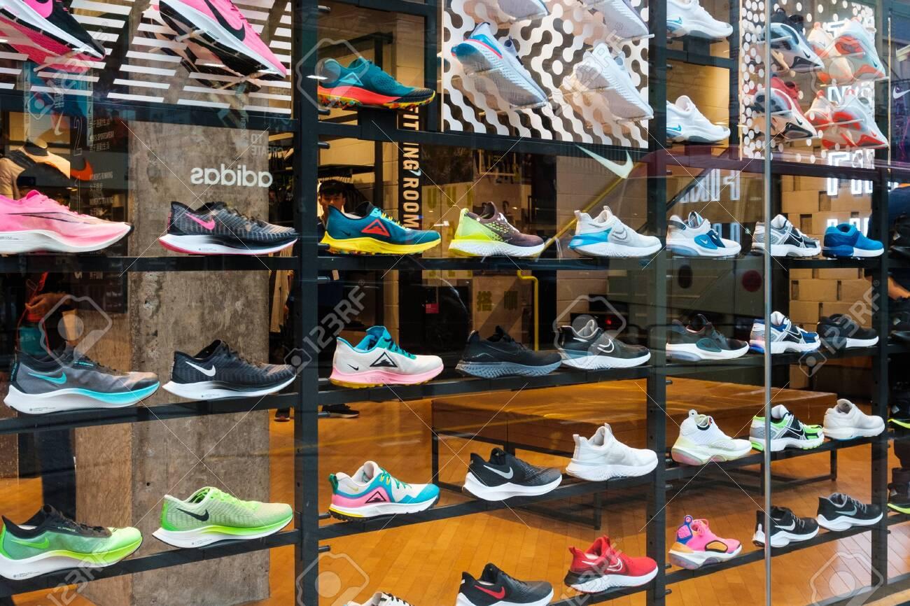 Shop Window At Sneaker Street