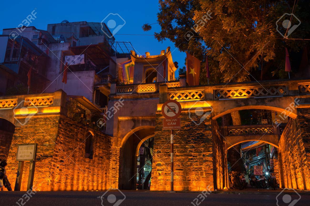 Hanoi, Vietnam - July 8, 2016: O Quan Chuong City Gate, The Only ...