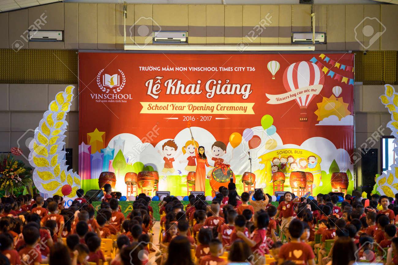 Hanoi, Vietnam - Sep 4, 2016: The opening ceremony of the new