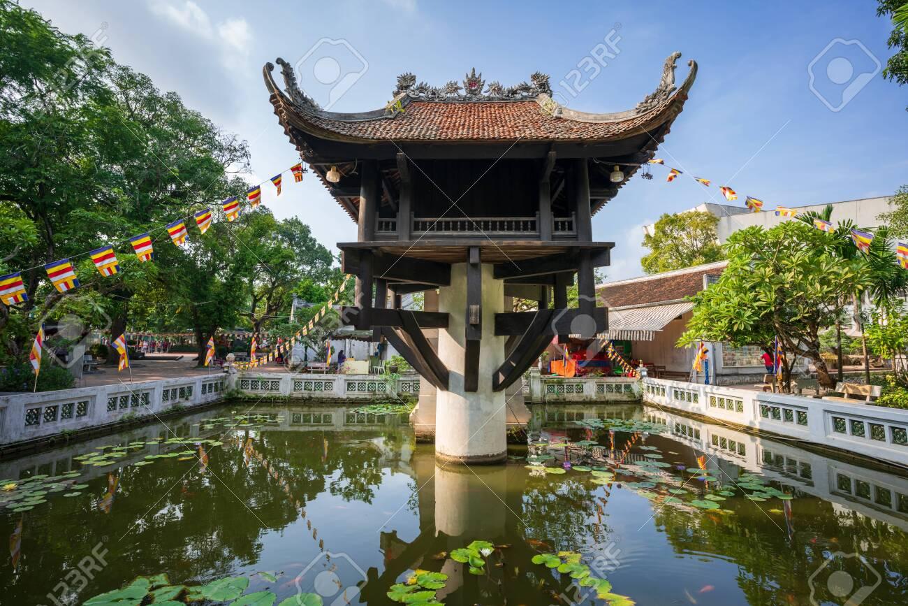 One Pillar pagoda, often used as a symbol for Hanoi, in Hanoi, Vietnam - 133359975