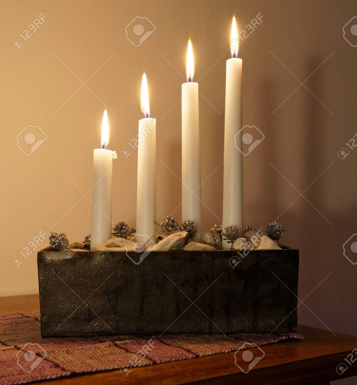 Typical Swedish Advent Candle Stick Holder With Decorations And Stock Photo Picture And Royalty Free Image Image 90365630
