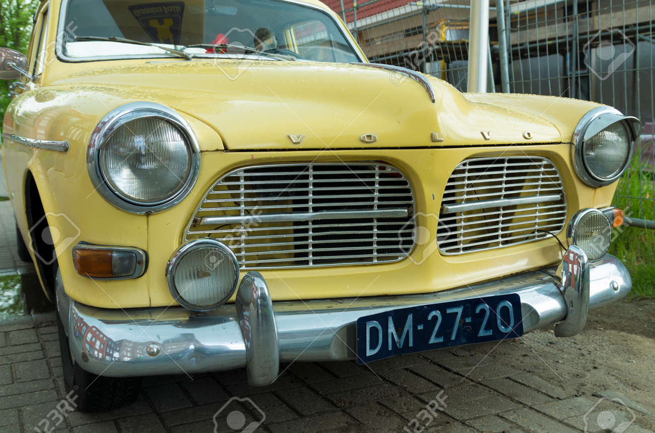 Front Of An Oldtimer Volva Amazon. The Volvo Amazon Is A Passenger ...